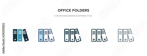 Fotografie, Tablou office folders icon in different style vector illustration