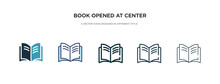 Book Opened At Center Icon In ...