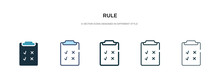 Rule Icon In Different Style V...