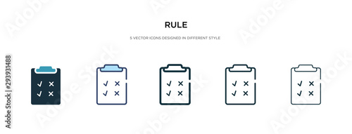 Fototapeta rule icon in different style vector illustration
