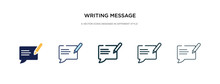 Writing Message Icon In Differ...