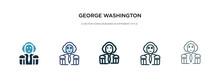 George Washington Icon In Diff...
