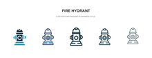Fire Hydrant Icon In Different...