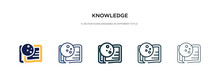 Knowledge Icon In Different St...