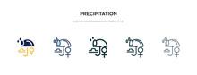 Precipitation Icon In Differen...