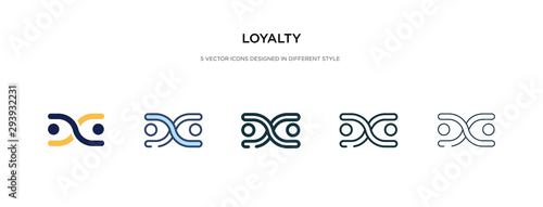 Fotomural  loyalty icon in different style vector illustration