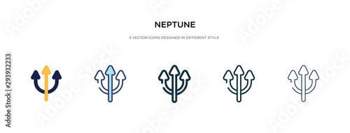 Photo neptune icon in different style vector illustration