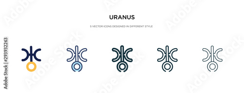 Fotografie, Obraz uranus icon in different style vector illustration