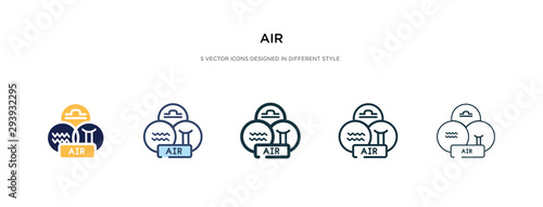 air icon in different style vector illustration Canvas Print