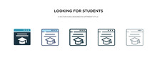 Looking For Students Icon In D...