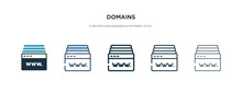 Domains Icon In Different Styl...
