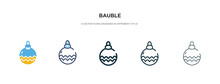 Bauble Icon In Different Style...