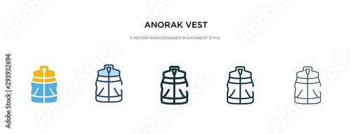 anorak vest icon in different style vector illustration Canvas Print