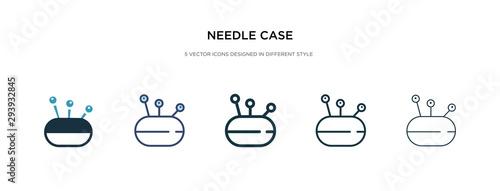 Fotografie, Obraz  needle case icon in different style vector illustration