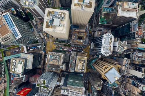 Slika na platnu Top view of Hong Kong city