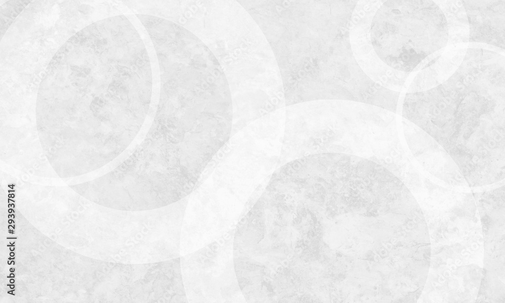 Fototapety, obrazy: White background with white circle rings in faded distressed vintage grunge texture design, old geometric pattern paper