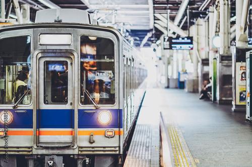 Fotomural  南海電車・プラットホーム