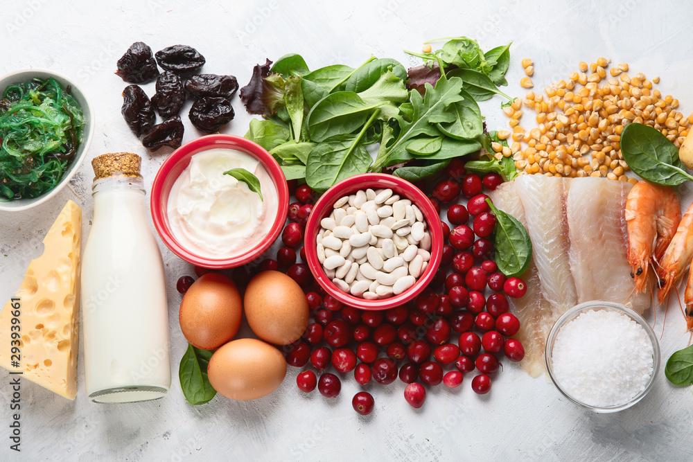 Fototapety, obrazy: Foods rich in iodine