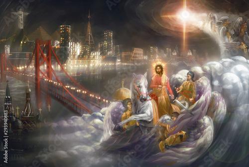 Pinturas sobre lienzo  Jesus second coming