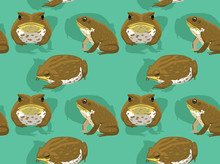 Cute Cane Toad Vector Seamless Background Wallpaper