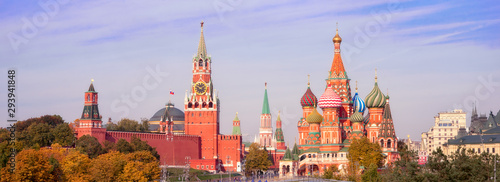 Spasskaya Tower, the Moscow Kremlin and St Canvas Print