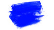canvas print picture - Abstract white background with blue paint strokes