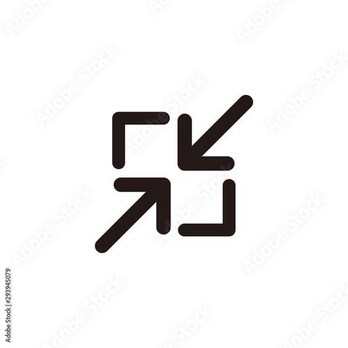Fotomural  Minimize screen icon symbol vector