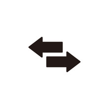 Reverse Arrow Icon Symbol Vector