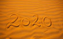 2020 Year Written In The Deser...