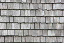 Wood Roof Tiles Texture Background Top View