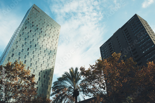 Buildings in the 22 @ neighborhood of Barcelona