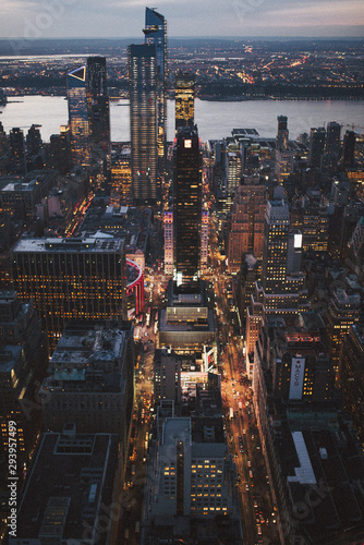 Fototapety, obrazy: Aerial view of New York City
