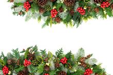 Winter And Christmas Backgroun...