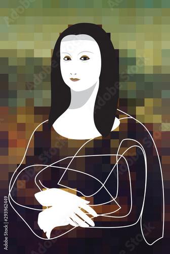 Mona Lisa mix media art Canvas Print