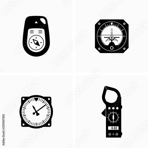 Modern digital and analogic devices, equipment Wallpaper Mural