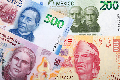 Mexican peso a business background Canvas-taulu
