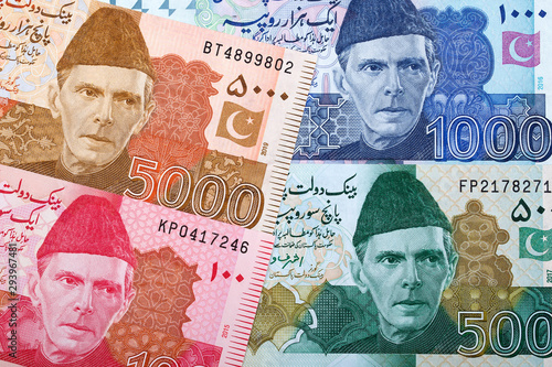 Pakistani Rupee a business background Wallpaper Mural