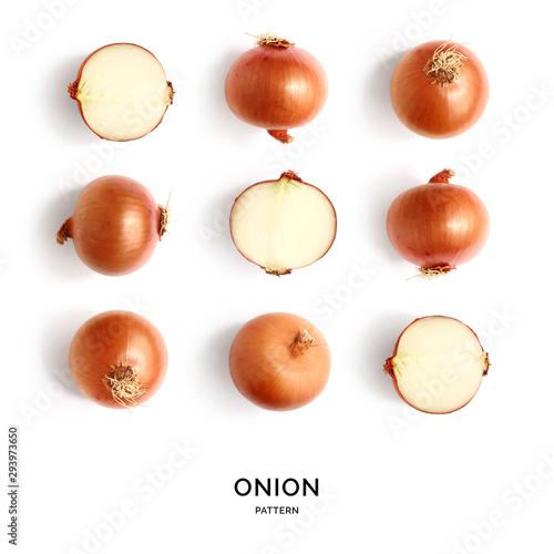 Fotografía  Seamless pattern with onion