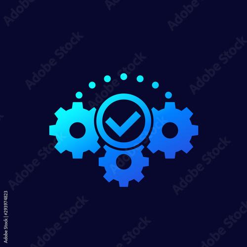 Fotografía  Execution or implementation icon, vector