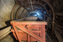 Gold Mine Ore Shaft Tunnel Wit...