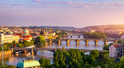 Charles Bridge, Prague, Czech Republic Wallpaper Mural
