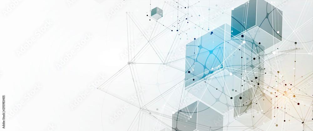 Fototapeta Technology data background, idea of global business solution