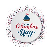 Happy Columbus Day Calligraphy...