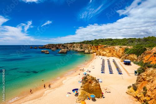 Beach of Barranco das Canas in Portimao, Algarve, Portugal Fototapete