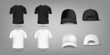 T Shirt And Baseball Cap Mocku...