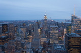 Fototapeta Nowy Jork - Panorama of New York City by night