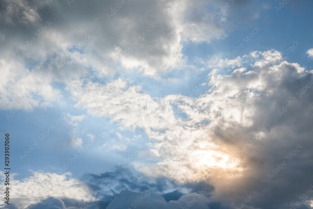 Fototapety, obrazy: The clouds are forming and obscuring the sun.