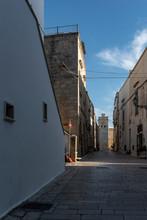 Castro, Salento, Puglia, Italia, Città Messapica. Antiche Mura Aragonesi. Panorami.
