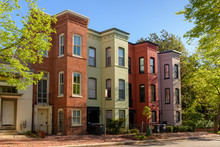 Colorful Brick Townhouses Of W...