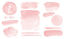 Blush Pink Watercolor Stains P...